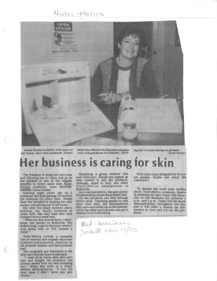 Her business is caring for skin