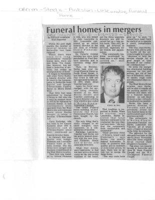Funeral homes in mergers
