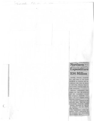 Northern Expenditure $34 Million