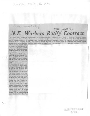 N.E. Workers Ratify Contract