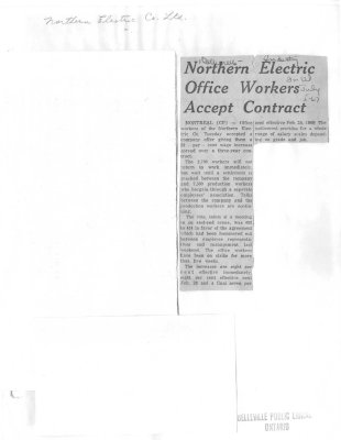 Northern Electric Office Workers Accept Contract