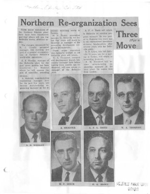 Northern Re-organization Sees Three Move