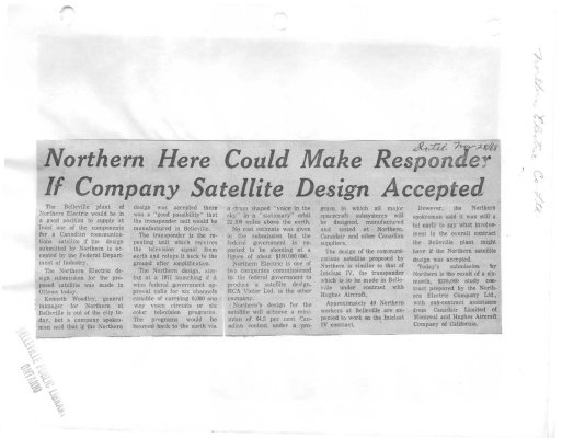 Northern Here Could Make Responder If Company Satellite Design Accepted
