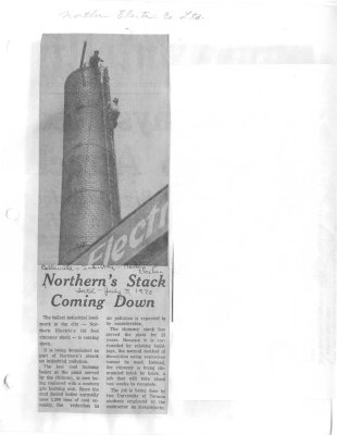 Northern's stack coming down