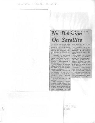 No decision on satellite