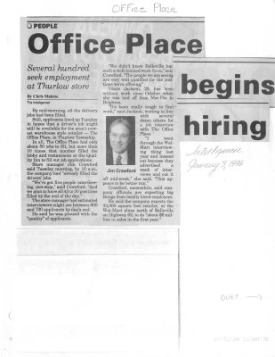 Office Place begins hiring