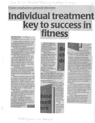 Individual treatment key to success in fitness