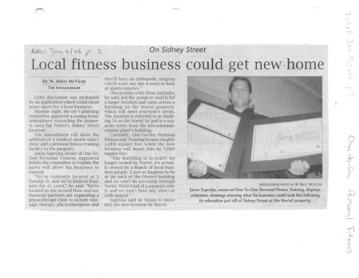 Local fitness business could get new home