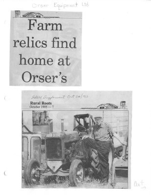Farm relics find home at Orser's
