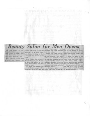 Beauty Salon for men opens