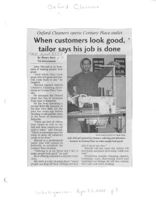 When customers look good, tailor says his job is done