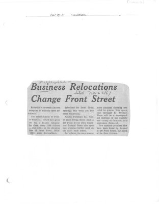 Business relocations change Front Street