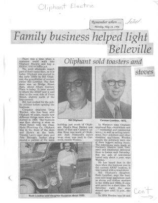 Remember When: Family business helped light Belleville