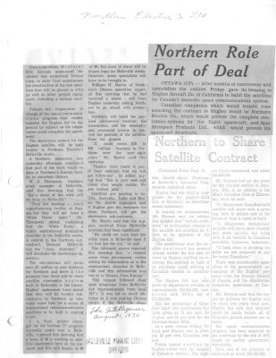 Northern Roles Part of Deal
