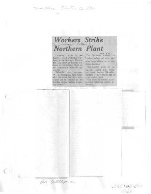 Workers Strike Northern Plant