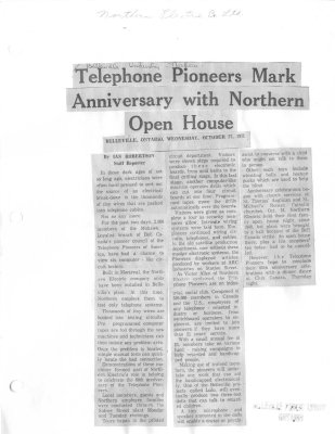 Telephone Pioneers Mark Anniversary With Northern Open House
