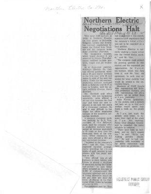 Northern Electric Negotiations Halt