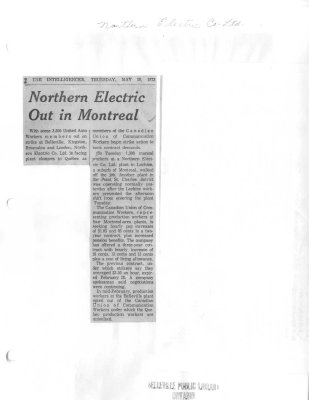 Northern Electric Out in Montreal