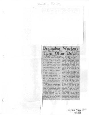Bramalea Workers Turn Offer Down
