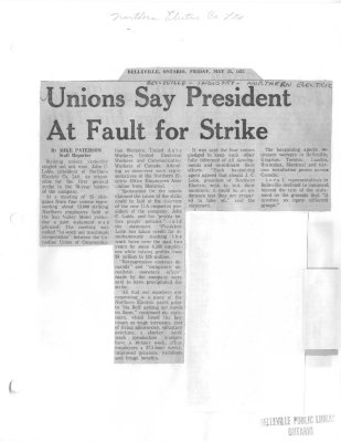 Unions Say President At Fault for Strike