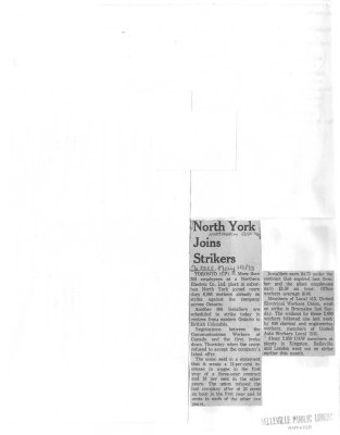 North York Joins Strikers