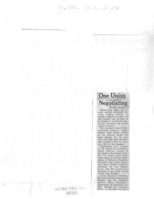 One Union Negotiating