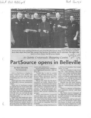 PartSource opens in Belleville