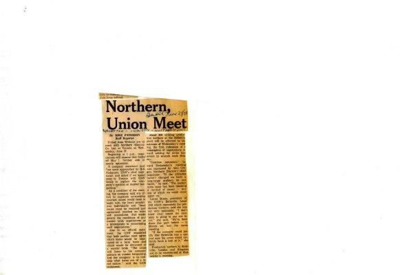 Northern, Union Meet