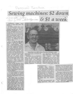 Sewing machines: $2 down & $1 a week