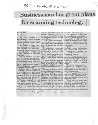 Businessman has great plans for scanning technology