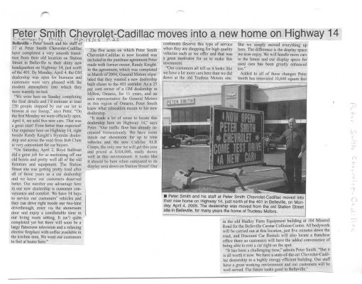 Peter Smith Chevrolet-Cadillac moves into a new home on Highway 14