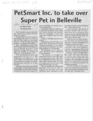 PetSmart Inc. to take over Super Pet in Belleville