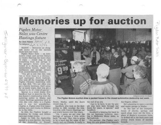 Memories up for auction