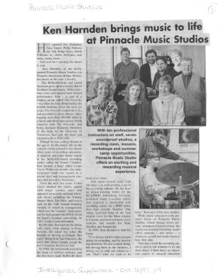 Ken Harnden brings music to life at Pinnacle Music Studios