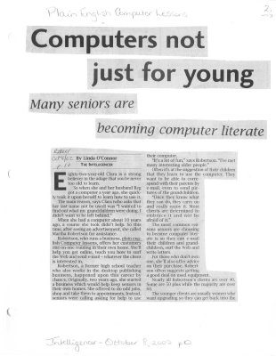 Computers not just for young