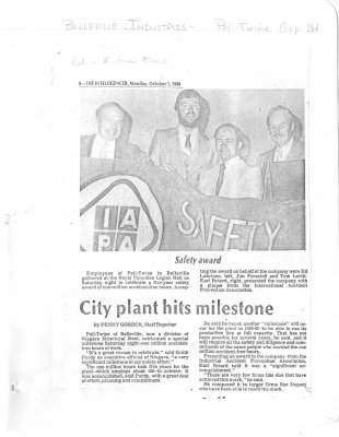 City plant hits milestone
