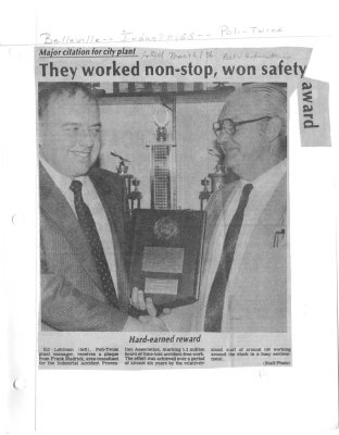 They worked non-stop, won safety award
