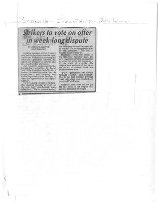 Strikers to vote on offer in week-long dispute