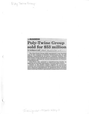 Poly-Twine Group sold for $53 million