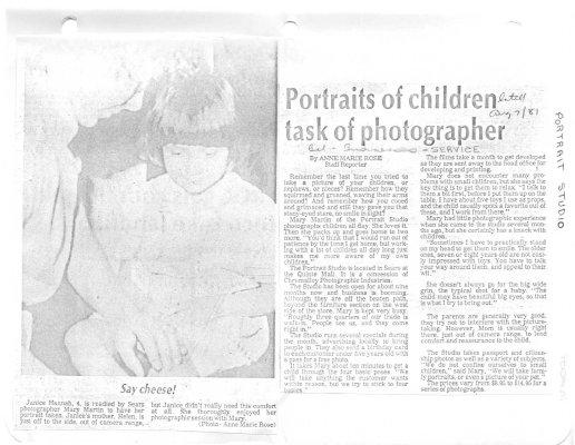 Portraits of children task of photographer