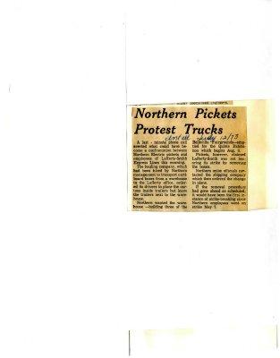 Northern Pickets Protest Trucks