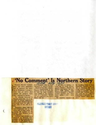 'No Comment' Is Northern Story