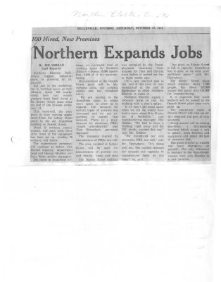 Northern Expands Jobs