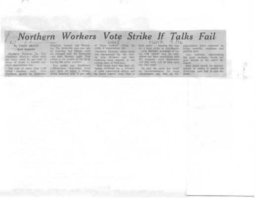 Northern Workers Vote Strike If Talks Fail