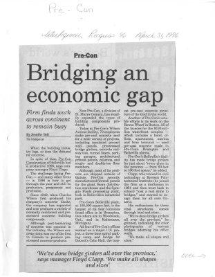 Bridging an economic gap