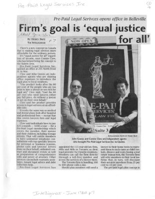 Firm's goal in 'equal justice for all'