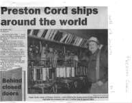 Preston Cord ships around the world