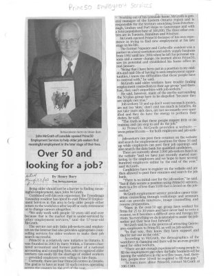 Over 50 and looking for a job?