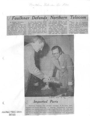 Faulkner Defends Northern Telecom