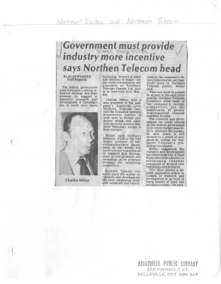 Government must provide industry more incentive says Northern Telecom head